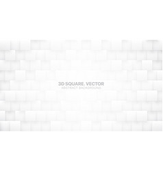 3d square blocks white abstract background vector