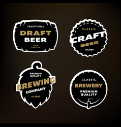 A set of emblems logos on the theme of brewing vector