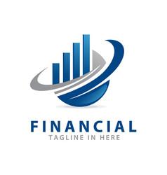 Accounting financial logo vector