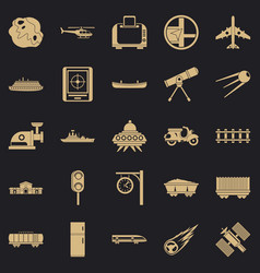 Advanced technology icons set simple style vector
