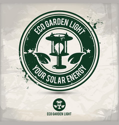 alternative eco garden light stamp vector image