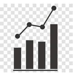Analytics icon on transparent analytics sign vector