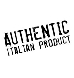 Authentic italian product stamp vector