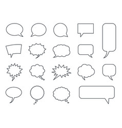 blank empty speech bubbles set in vector image