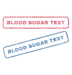 blood sugar test textile stamps vector image vector image