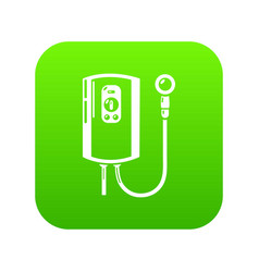 boiler icon green vector image