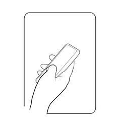 Border smartphone in hand 4 vector