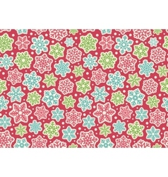 Bright Fun Seamless Christmas Winter Pattern with vector image