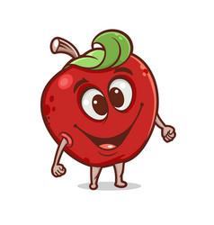 Cartoon apple vector