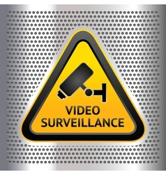 CCTV symbol on a chromium background vector