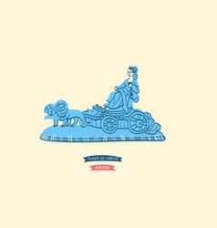 Cibeles fountain symbol of the plaza de cibeles vector