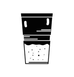contour delicious coffee espresso glass vector image