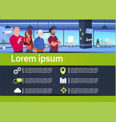 creative infographic communication business team vector image