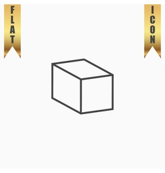 Cubes flat icon vector image