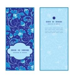 dark blue turkish floral vertical frame vector image