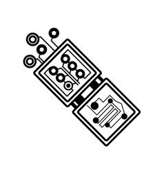 electronic circuit board hardware linear vector image