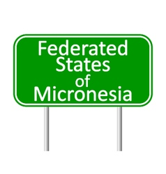 Federated states micronesia road sign vector