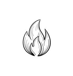 Fire flame hand drawn sketch icon vector