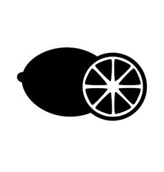 Fruits lemon icon vector image