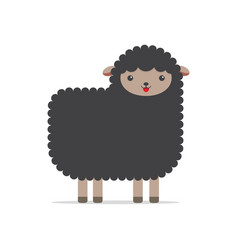 funny black sheep cartoon vector image