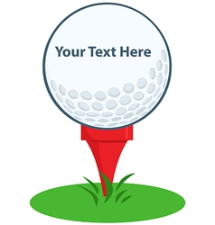 Golf ball logo vector