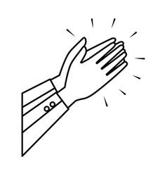 Hands human applauding icon vector