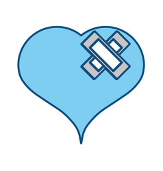 Heart medical symbol vector