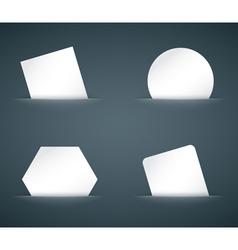 Hidden paper cards set vector