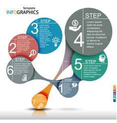 infographics business template elements vector image