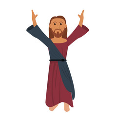 Jesus christ prayer devotion image vector