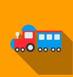 Locomotive flate icon for web and vector