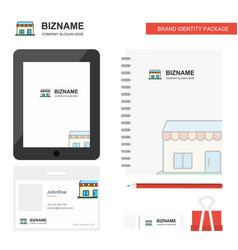 Market business logo tab app diary pvc employee vector