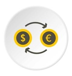 Money exchange icon flat style vector image