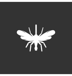Mosquito logo on black background icon vector