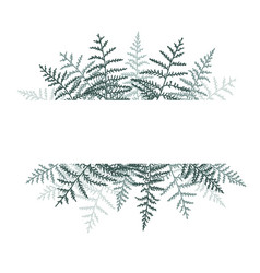 natural background with bracken vector image