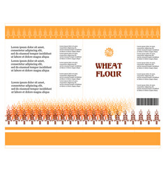 package design wheat flour or pasta macaroni vector image