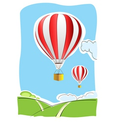 Parachute on air vector