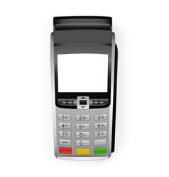 Payment terminal mockup vector