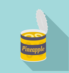 pineapple tin can icon flat style vector image