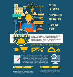 poster home design planning work tools vector image