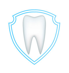 Protection of the white tooth from decay and vector
