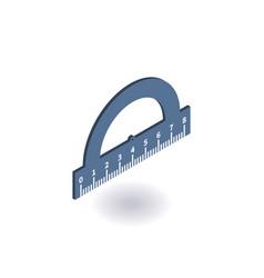 Protractor ruler isometric icon vector