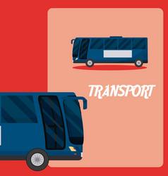 Public bus transport vehicle vector