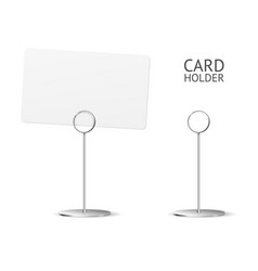 realistic detailed 3d metallic card holder set vector image