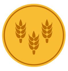 Rice gold coin vector