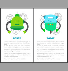 Robot humanoids collection vector