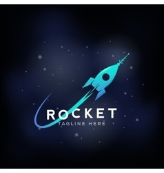 rocket space ship abstract sign icon vector image