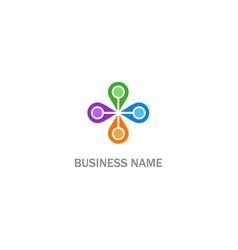 Round circle colored company logo vector