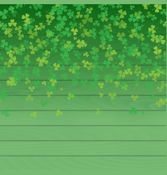 saint patricks day frame green tree leaf clovers vector image