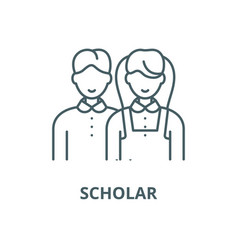 Scholar line icon linear concept outline vector